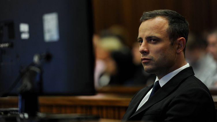 L'athlète sud-africain Oscar Pistorius, le 14 février 2014 à Pretoria (Afrique du Sud). (NURPHOTO / AFP)