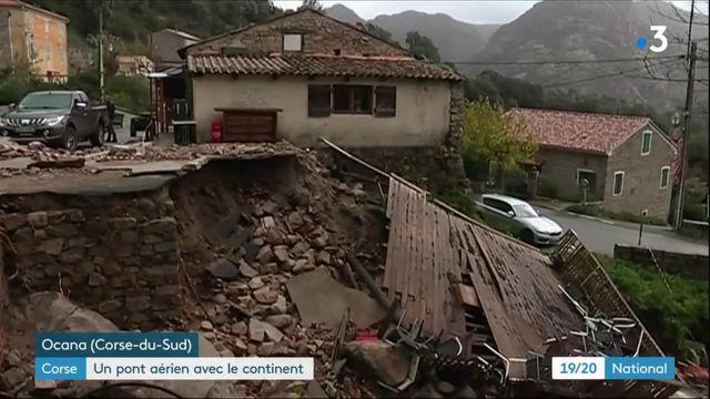 Corse : un pont aérien après la tempête