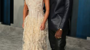 Kim Kardashian et Kanye West à Beverly Hills (Californie, Etats-Unis), le 9 février 2020. (FPA / FULL PICTURE AGENCY / AFP)
