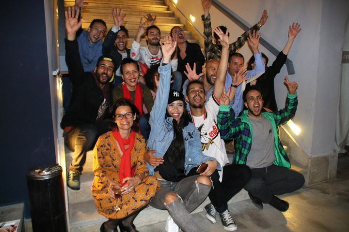 """La troupe de """"Danser Casa"""" le soir de la Première en avril 2018 à Casablanca  (S.Jouve/Culturebox)"""