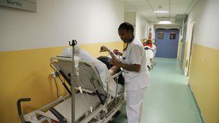 Les urgences de l'hôpital d'Argenteuil (Val-d'Oise), le 11 janvier 2017. (MAXPPP)
