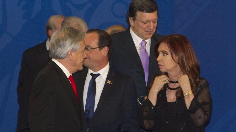 Le G20 réunit les dirigeants les plus puissants du monde. Sur la photo,François Hollande, Cristina Kirchner (présidente argentine), David Cameron (premier ministre britannique) (ON)
