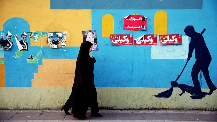 (Dans le centre de Téhéran, le 24février. © Ebrahim Noroozi/AP/SIPA)
