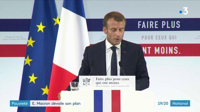 Pauvreté : Emmanuel Macron dévoile son plan