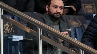 Cyril Hanouna, le 23 janvier 2016, au Parc des princes, à Paris, lors du match du PSG contre Angers. (MAXPPP)