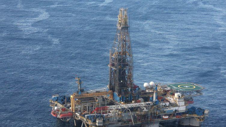 Plateforme d'exploration en méditerranée orientale (CHRISTOS AVRAAMIDES / PIO / AFP)