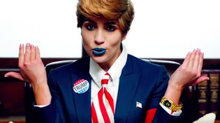 "Capture d'image du clip ""Make America Great Again"" des Pussy Riot  (Capture image Youtube)"