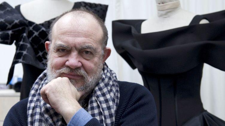 Christian Lacroix en février 2012 à l'Opéra de Frankfurt  (EMILY WABITSCH / DPA / AFP)