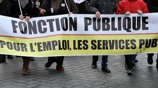 Une manifestation de fonctionnaires, le 6 septembre 2013 à Nantes (Loire-Atlantique). (ALAIN LE BOT / PHOTONONSTOP / AFP)