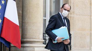 Jean Castex, le 8 avril 2021 au palais de l'Elysée, à Paris. (MAXPPP)