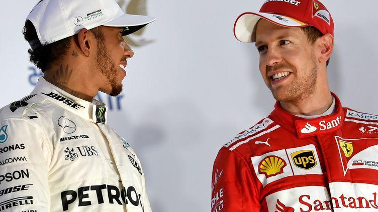 Lewis Hamilton et Sebastian Vettel sur le podium à Barcelone, c'est très probable. Mais dans quel ordre ? (ANDREJ ISAKOVIC / AFP)