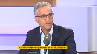 Bernard Cohen-Hadad,le président de la Confédération des petites et moyennes entreprises en Ile-de-France, le 25 octobre 2019 sur franceinfo. (FRANCEINFO / RADIOFRANCE)