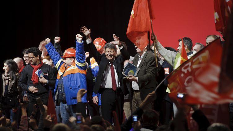 Près de 8 000 personnes se sont rendues au meeting de Jean-Luc Mélenchon à Villeurbanne, le 7 février. (Jean-Philippe Ksjazek/AFP)