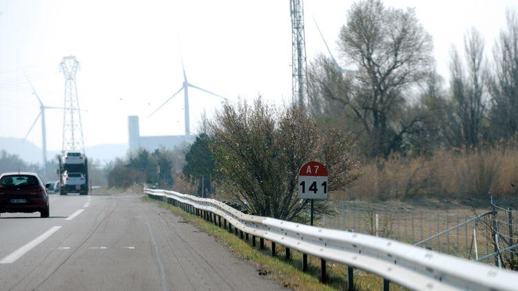 L'autoroute A7, près de Montélimar (Drôme), non loin du lieu où trois adolescentes ont été fauchées le 16 mars 2012. (JEAN-PIERRE CLATOT / AFP)