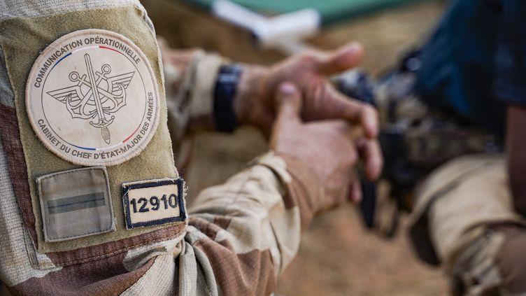 Un soldat français de l'opération Barkhane au Mali, le 16 janvier 2021. (FREDERIC PETRY / HANS LUCAS)