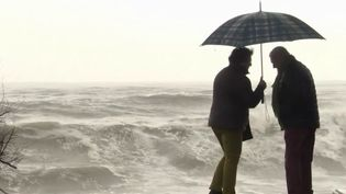 Face à la menace de la tempête Gloria, près de 250 personnes évacuées dans l'Aude ont dormi dans un gymnase dans la nuit du 22 au 23 janvier. (FRANCE 3)