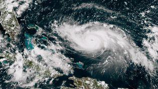 L'ouragan Dorian vu de l'espace, le 30 août 2019. (HO / NOAA/RAMMB / AFP)
