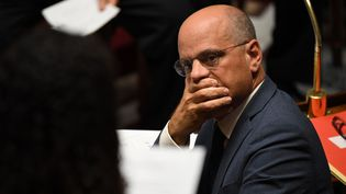 Le ministre de l'Education nationale, au Palais Bourbon, le 12 septembre 2018. (ERIC FEFERBERG / AFP)