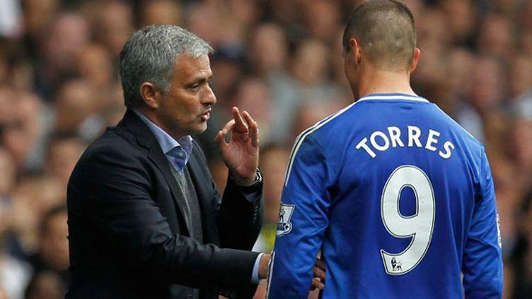 Fernando Torres et son entraîneur José Mourinho