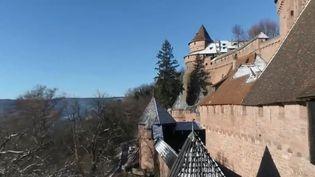 Le château du Haut-Koenigsbourg (CAPTURE D'ÉCRAN FRANCE 3)