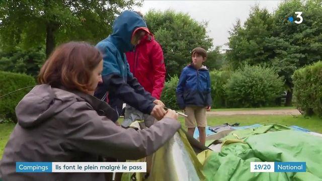 Vacances: les campings tiennent le cap malgré la météo maussade et le pass sanitaire