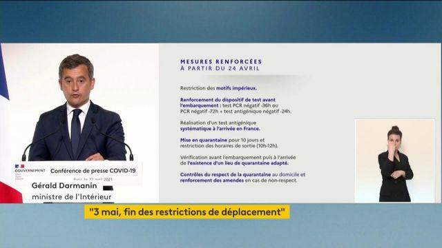 Gérald Darmanin annonce des mesures renforcées pour les voyageurs en provenance de plusieurs pays