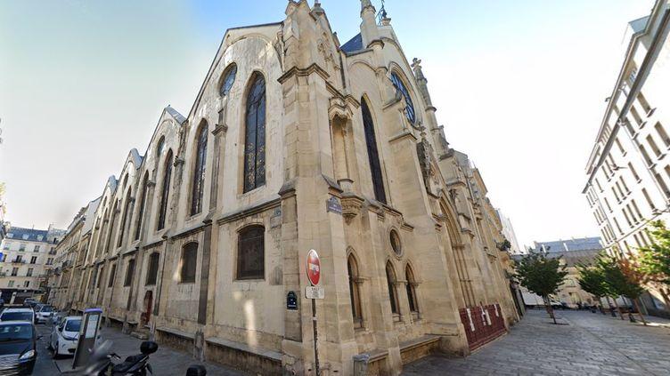 L'église Saint-Eugène-Sainte-Cécile, dans le 9e arrondissement deParis où a été filmée une messe sans respect des consignes sanitaires. (CAPTURE ECRAN GOOGLE STREET VIEW)