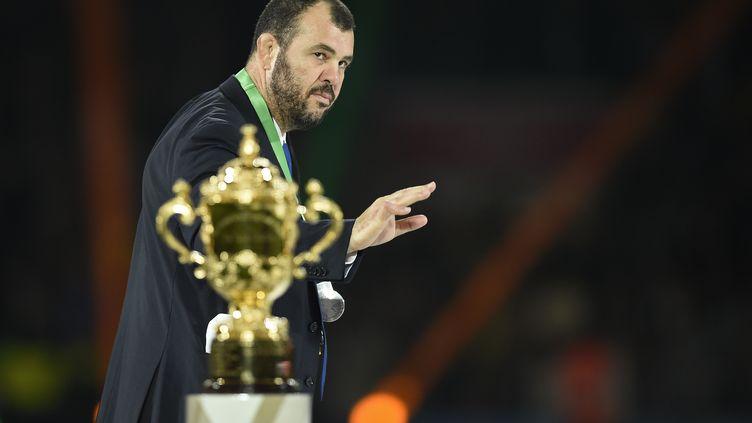 L'entraîneur de l'Australie Michaël Cheika (MARTIN BUREAU / AFP)