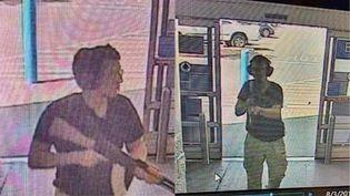 Patrick Crusius, 21 ans, auteur de la tuerie qui a fait 20 morts, à l'entrée du supermarché Walmart à El paso, le samedi 3 août 2019. (COURTESY OF KTSM 9 / KTSM 9 NEWS CHANNEL)