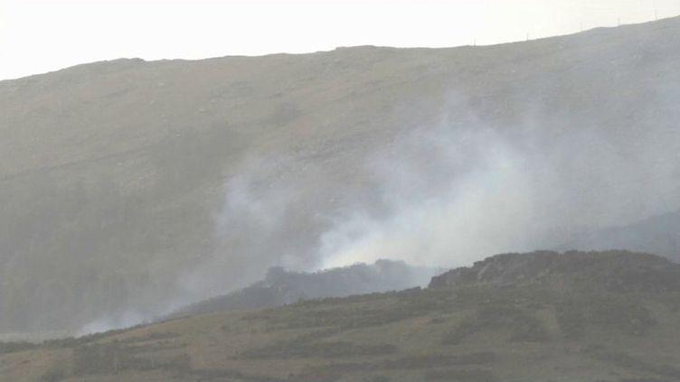 Une centaine de pompiers contrôlent les foyers des incendies qui se sont déclarés dans le Pays basque le samedi 20 février. 700 hectares sont touchés. (France 3)