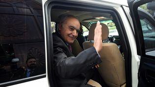 Ghassan Salamé, envoyé spécial des Nations Unies pour la Libye et chef de la Mission de soutien aux Nations Unies en Libye (MANUL), à son arrivée à Tunis le 18 décembre 2018. (FETHI BELAID / AFP)