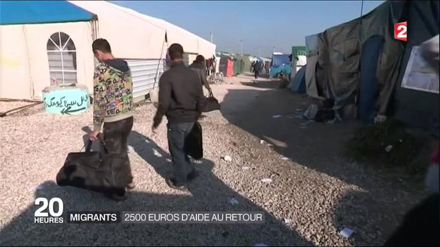 Migrants : le gouvernement propose une aide au retour de 2500 euros