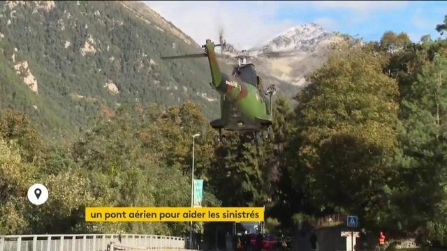 Alpes-Maritimes : un pont aérien mis en place pour aider les sinistrés