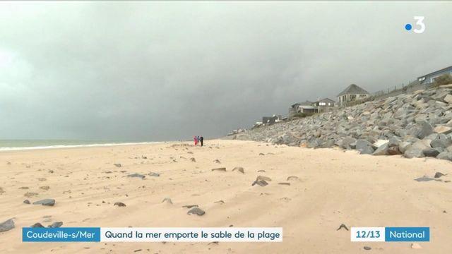 Coudeville-sur-Mer : la marée a emporté 1,50 mètre de sable