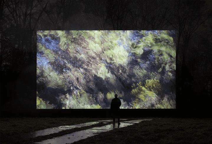 """""""Pleasant Places"""" le tableau numérique de l'artiste italien Davide Queyola  (France Télévisions/culturebox )"""