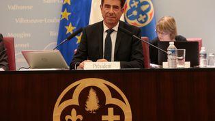Charles-Ange Ginésy, au conseil départemental des Alpes-Maritimes, le 15 septembre 2017. (FRANCK FERNANDES / MAXPPP)