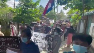 Birmanie : la junte militaire est au pouvoir depuis 100 jours (Capture d'écran franceinfo)