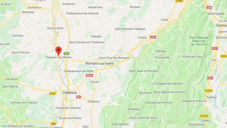 Tournon-sur-Rhône (Ardèche). (GOOGLE MAPS)