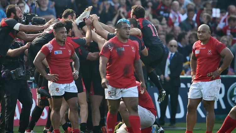 La Géorgie a surpris les Iles Tonga (BERTRAND LANGLOIS / AFP)