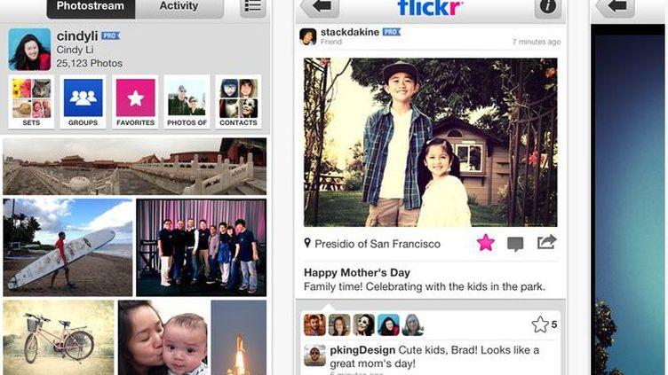 Capture d'écran de la page de l'application Flickr sur l'App Store réalisée le 13 décembre 2012. (FRANCETVINFO)