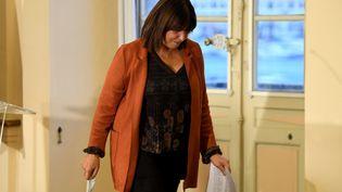Michèle Rubirola, maire de Marseille, après l'annonce de sa démission, mardi 15 décembre 2020. (NICOLAS TUCAT / AFP)