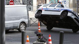 Tournage du cinquième opus de la saga Taxi à Marseille par le réalisateurFranck Gastambide  (PHOTOPQR/LA PROVENCE)