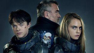 """Dane DeHaan, Luc Besson et Cara Delevingne : photo promotionnelle pour """"Valérian""""  (EuropaCorp Distribution)"""