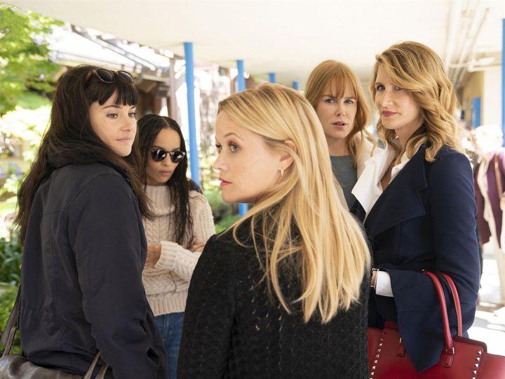 Laura Dern, Nicole Kidman, Reese Witherspoon, Shailene Woodley et Zoë Kravitz dans la saison 2 de Big Little Lies. (HBO)