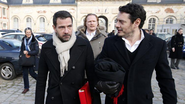 (Jérôme Kerviel (à gauche) et son avocat David Koubbi (à droite) © Maxppp)