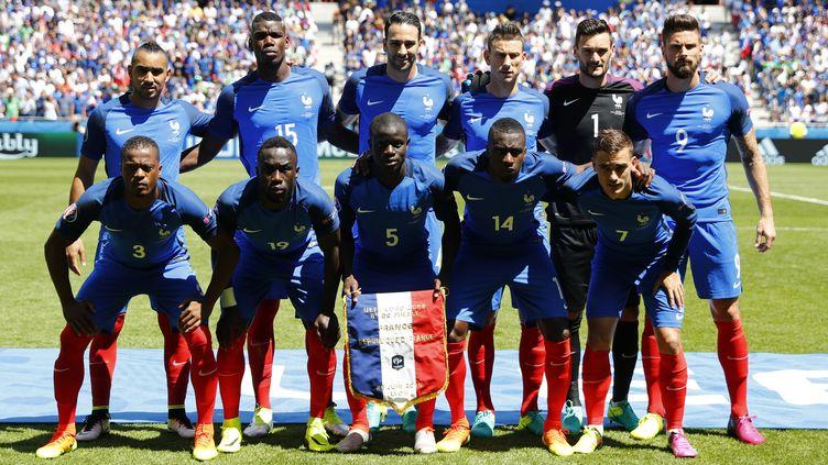 La composition de l'équipe de France face à l'Irlande le 26 juin 2016. (? REUTERS STAFF / REUTERS / X01095)