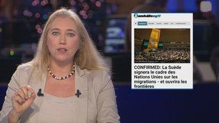À l'approche de la signature du Pacte de l'ONU sur les migrations, certains réseaux sociaux se sont déchaînés en Europe. Ici, nousnous penchons sur un articlesuédois provenant d'un site qui a de forts liens avec l'extrême droite. L'article affirme, entre autres, que le texte reconnaîtrait l'immigration illégale comme un droit de l'Homme. (FRANCE 24)