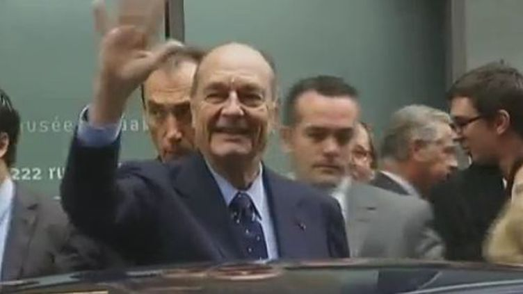 Jacques Chirac, le 24 novembre 2011 à Paris. (VIDÉO : FRANCE 2 ET JEFF WITTENBERG)