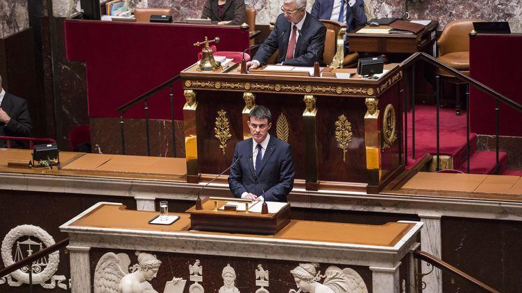 Manuel Valls à l'Assemblée nationale le 21 janvier 2015 (  MAXPPP)