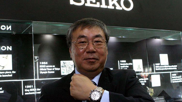 En février 2012, Susumu Kawanishi, président des montres Seiko, à Mumbai en Inde. La marque lançait une collection exclusive de montres de luxe. (GETTY IMAGES / THE INDIA TODAY GROUP)
